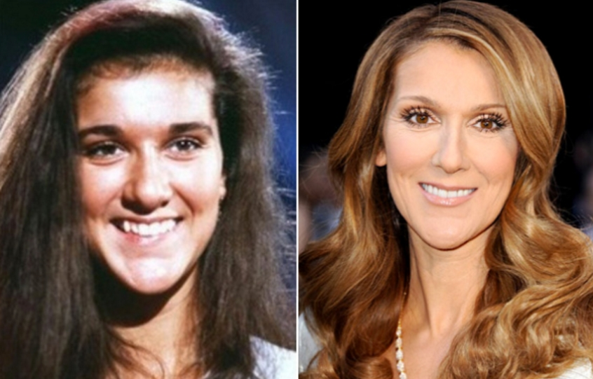 el cambio estetico de celine dion