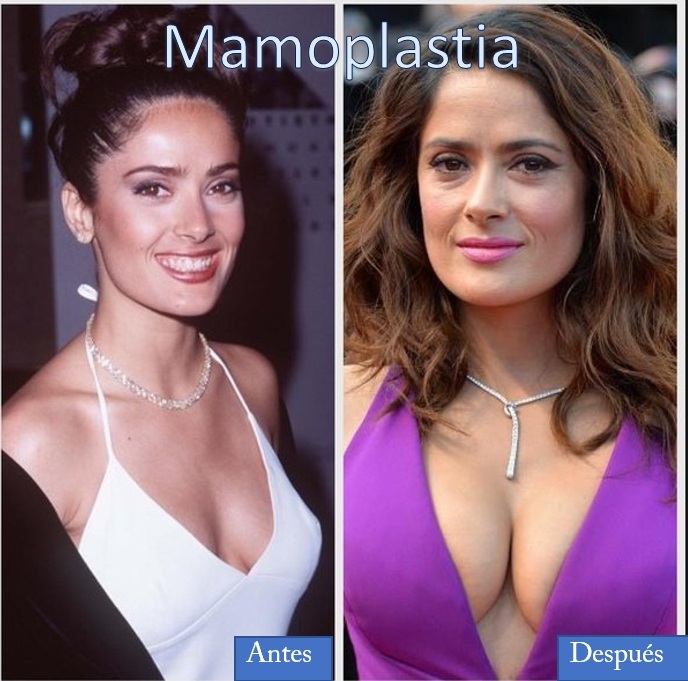 salma hayek antes y despues